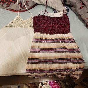 O'Neill halter top and Roxy halter top dress